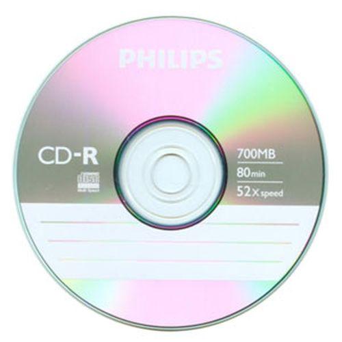 PHILIPS 飛利浦 52X CD-R燒錄片 50入熱縮膜裝【80分鐘/700MB】