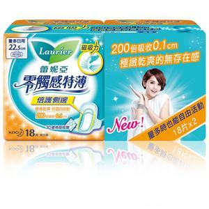 蕾妮亞 零觸感特薄 倍護側邊量多 日用衛生棉 22.5cm (18片x2包)/組 #2113
