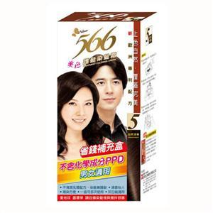566 護髮染髮霜 補充盒5號 自然深栗