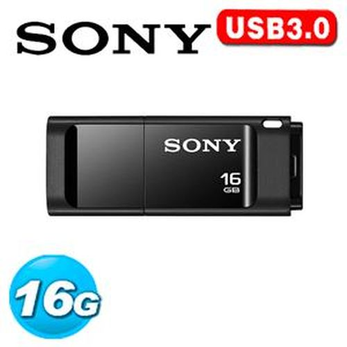 SONY 新力 USM-X 繽紛 USB 3.0 16GB 隨身碟 (黑色)