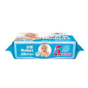 【箱購】好奇 純水嬰兒濕巾 厚型(80抽*3包)*6組/箱