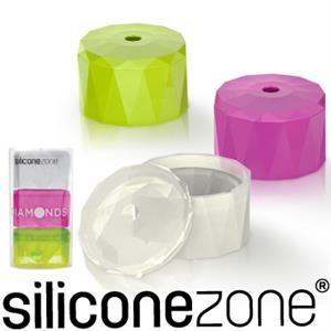 【Siliconezone】施理康耐熱鑽石造型巧克力模/冰模(三入裝)