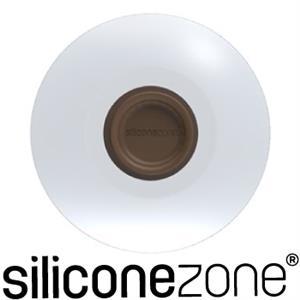 【Siliconezone】施理康耐熱矽膠茶包掛式防塵杯蓋-咖啡色