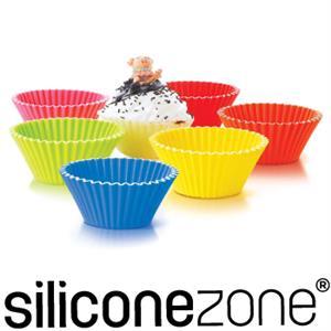 【Siliconezone】10.5cm施理康耐熱造型杯子蛋糕模(6入裝)