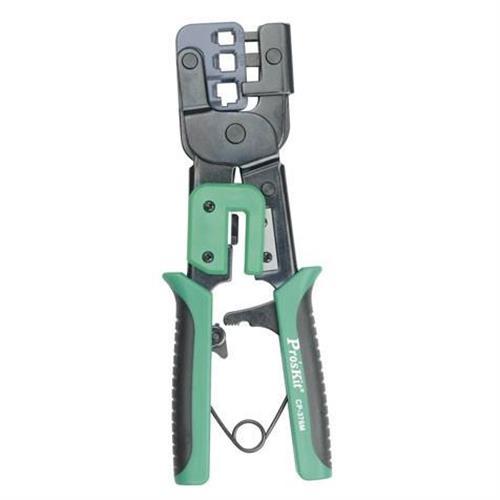 Pro'sKit 寶工 CP-376M 3合1鐵柄棘輪壓著鉗