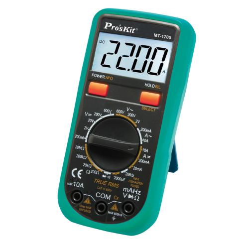 Pro'sKit 寶工 MT-1705 3 1/2 真有效值數位電錶