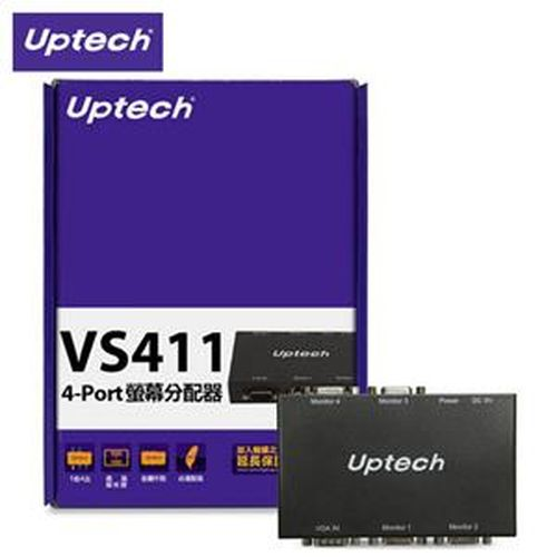Uptech 登昌恆 VS411 4-Port 螢幕分配器