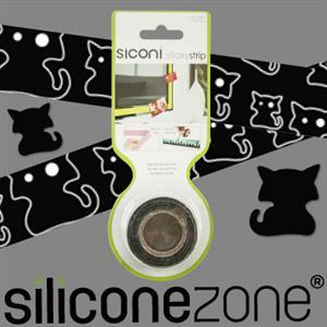 【Siliconezone】施理康Siconi環保矽膠任意膠帶貼-黑貓