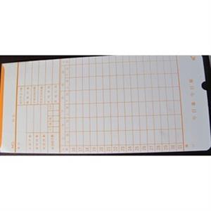 AMANO/JM6200 /高柏六欄位/ANICE GT3800打卡鐘卡片 (1包100張)