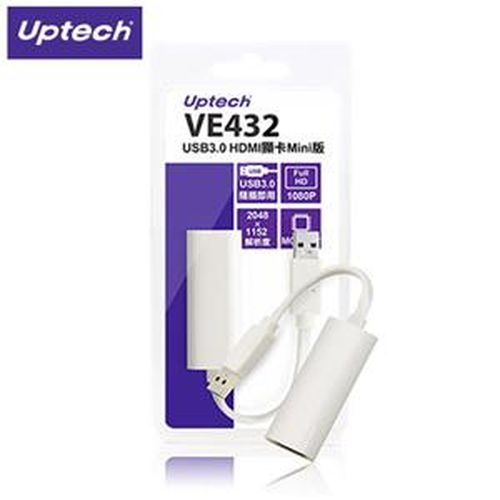 Uptech登昌恆 VE432 USB3.0 HDMI 外接顯示擴充卡Mini版