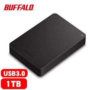 BUFFALO 巴比祿 2.5吋 1TB 防震加密行動硬碟 黑 HD-PNF【限量送滑鼠】