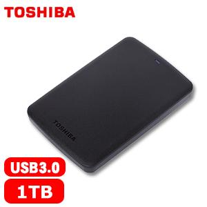 【網購獨享優惠】TOSHIBA東芝 A2 Basic 2.5吋 1TB 行動硬碟 黑