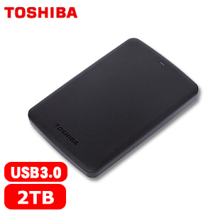 【網購獨享優惠】TOSHIBA東芝 A2 Basic 2.5吋 2TB 行動硬碟 黑