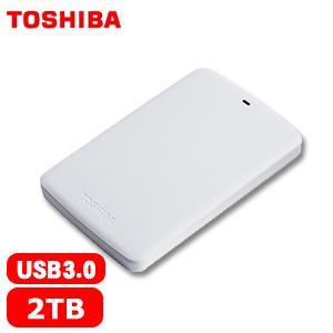【網購獨享優惠】TOSHIBA東芝 A2 Basic 2.5吋 2TB 行動硬碟 白