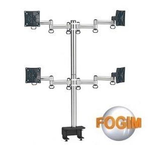 FOGIM 夾桌懸臂式液晶螢幕支架(四螢幕)-終身保固-TKLA-6034-SM