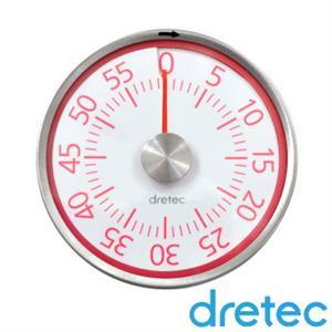 【日本DRETEC】錶型磁鐵計時器-紅色