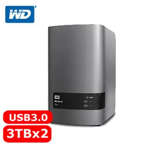 WD My Book Duo 3.5吋 6TB(3TBx2 3.5吋外接雙硬碟