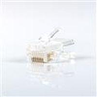 群加CAT5E單件式 水晶接頭20入CAT5E-G8P8C320