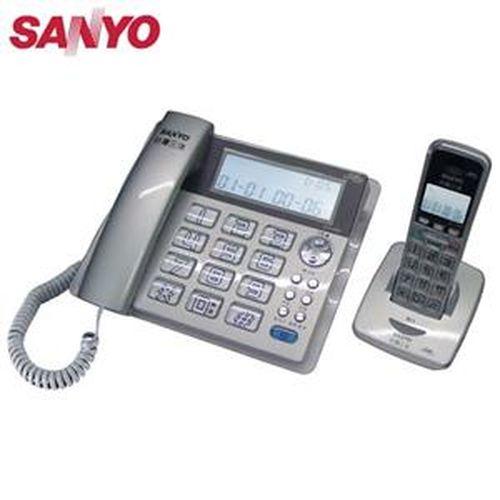 SANYO 三洋 DCT-8909 2.4G數位無線親子機 銀