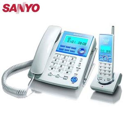SANYO 三洋 CLT-9091 子母機無線電話 銀