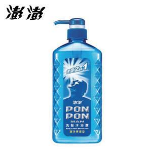 澎澎 MAN 速爽 2in1 洗髮沐浴露 海洋保濕型 650gX2瓶 #7694