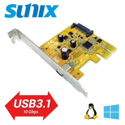 SUNIX USB3.1 Type-C PCIe 1埠擴充卡