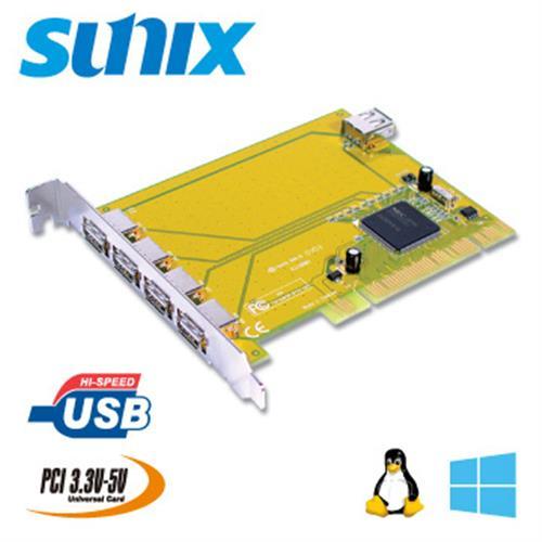 SUNIX 4+1埠USB2.0 PCI卡