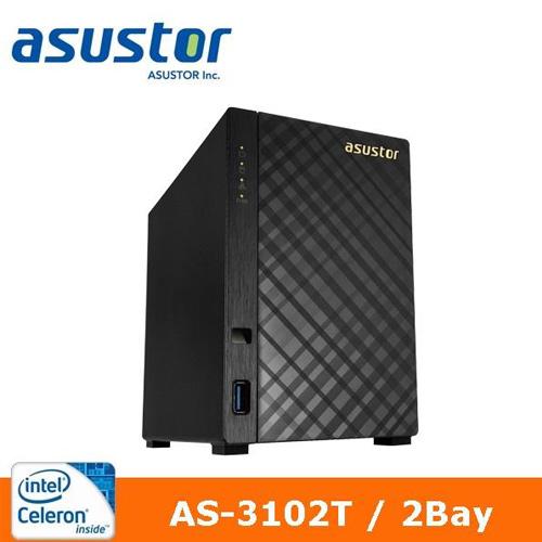 ASUSTOR 華芸 AS-3102T 2Bay 網路儲存伺服器【送專用遙控器】