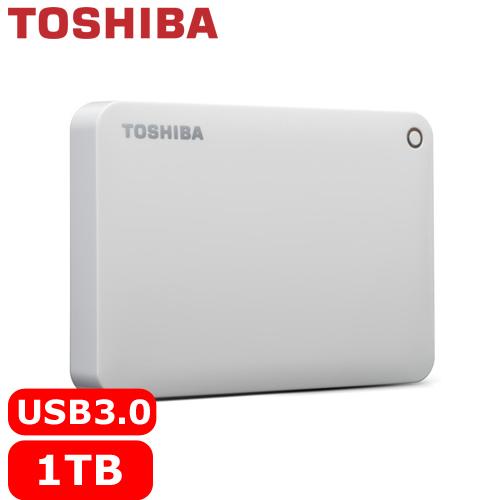 TOSHIBA CanvioConnectII V8 2.5吋 1TB行動硬碟白