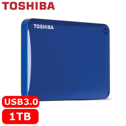 TOSHIBA CanvioConnectII V8 2.5吋 1TB行動硬碟藍