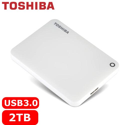 【網購獨享優惠】TOSHIBA CanvioConnectII V8 2.5吋 2TB行動硬碟白