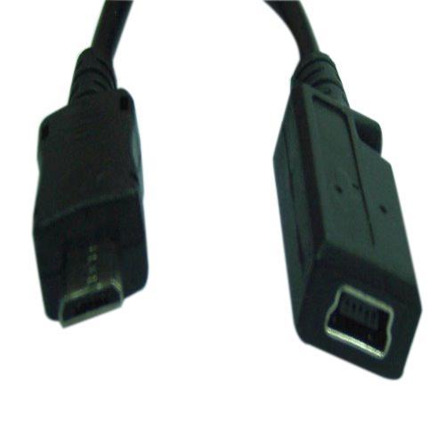 Micro USB B公對mini 5pin母座帶線10cm