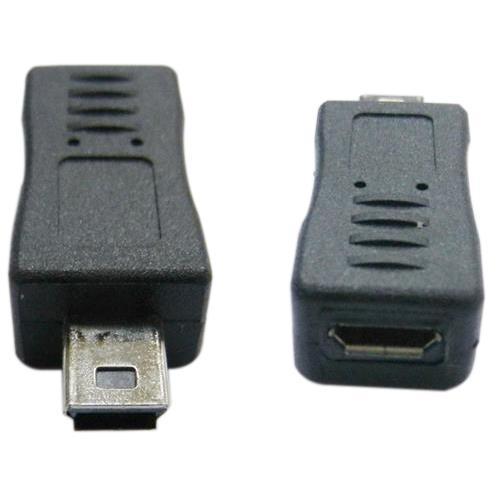 USB2.0 MINI 5P公-Micro B母轉接頭