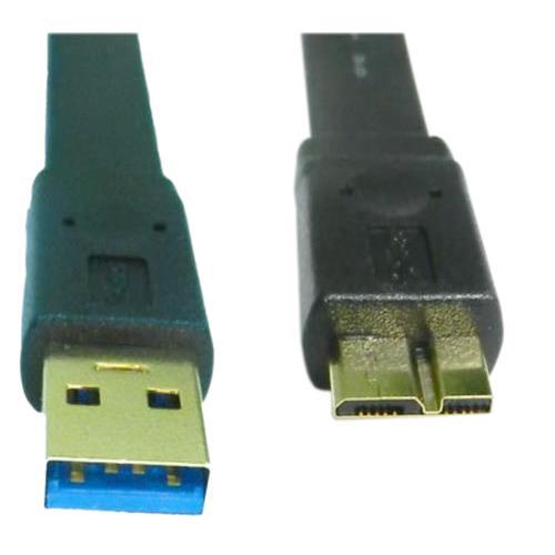 USB3.0 扁型 A公/Micro B公鍍金 1.5M