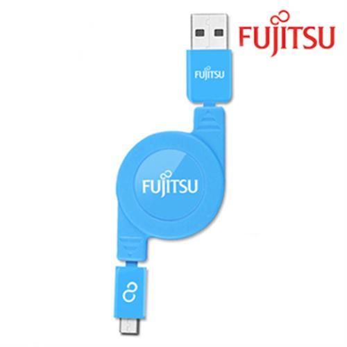 富士通 UM200(藍色) MICRO USB傳輸充電線(捲線)