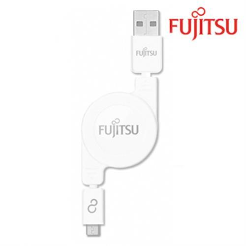 富士通 UM200(白色) MICRO USB傳輸充電線(捲線)