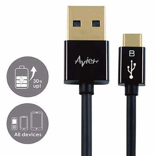 Avier MU2150BT極速USB 2.0 Micro 150cm珍珠黑色
