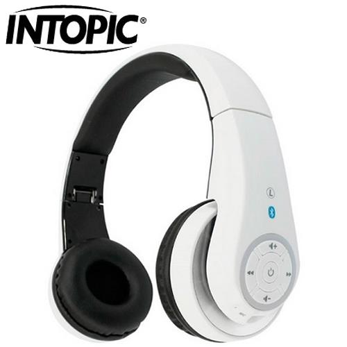 INTOPIC 廣鼎 JAZZ-BT950 藍牙無線頭戴式耳機麥克風 白