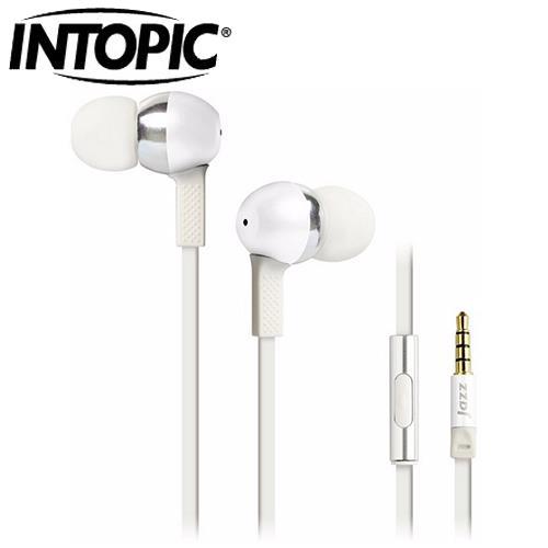 INTOPIC 廣鼎 JAZZ-I58 全功能型鋁合金耳機麥克風 白