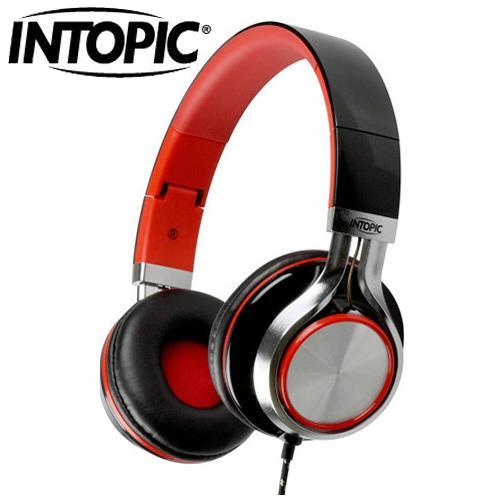 INTOPIC 廣鼎 JAZZ-M300 摺疊音樂耳機麥克風 黑