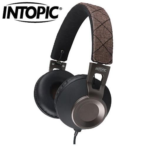 INTOPIC 廣鼎 JAZZ-M360 摺疊音樂耳機麥克風 摩卡棕