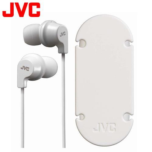 JVC HA-FR21 吸盤式捲線器耳道式耳機麥克風 白