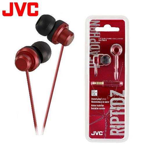 JVC HA-FX8 休閒多色彩入耳式耳機 紅