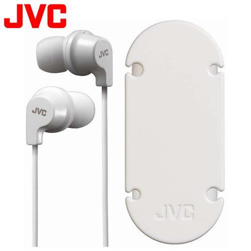 JVC HA-FX19 吸盤式捲線器耳道式耳機 白