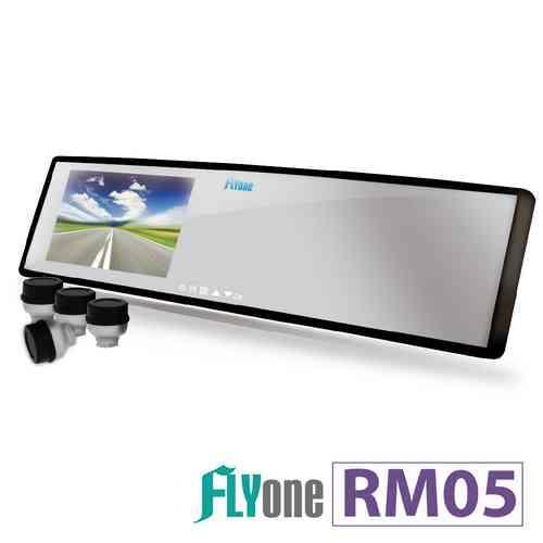 FLYone RM05【無線胎壓偵測+GPS軌跡】後視鏡型行車記錄器