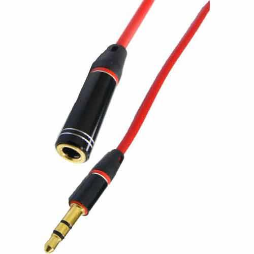 3.5 公/母 3極高傳真耳機延長線 30CM