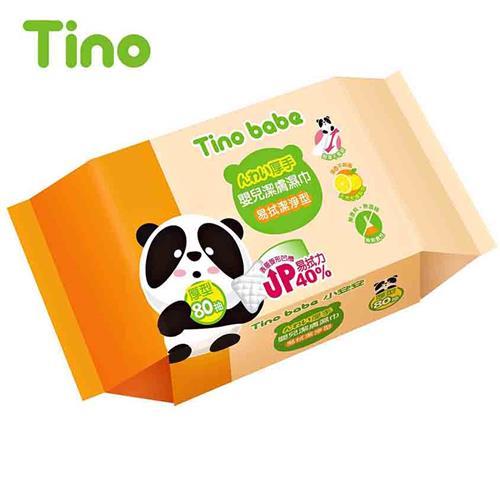 Tino小安安嬰兒柔濕巾-易拭潔淨型 80抽x24包/箱 (加厚)