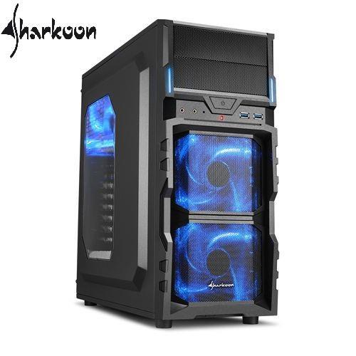 Sharkoon旋剛 VG5-W blue 勁風者(藍) 電腦機殼