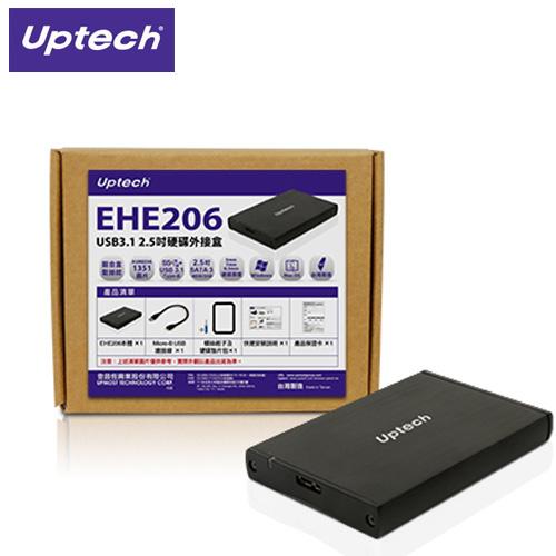 Uptech 登昌恆 EHE206 USB3.1 2.5吋 硬碟外接盒