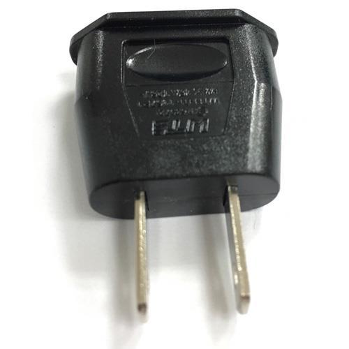 110公  220母 轉接頭 大圓4.8mm 黑色